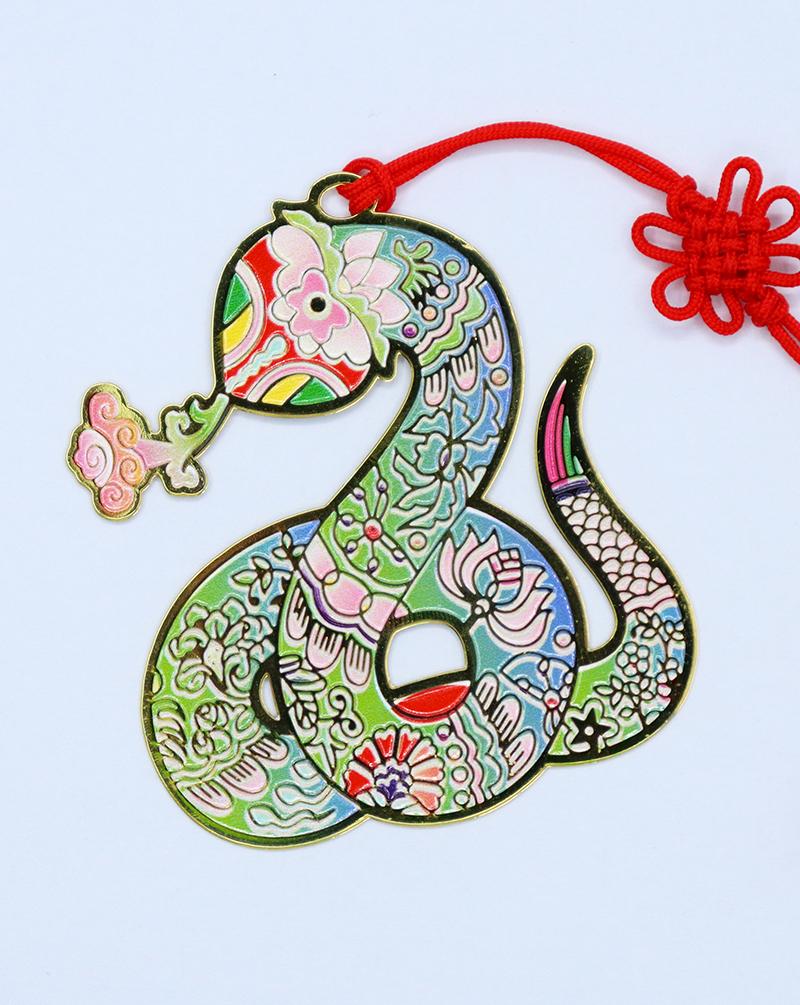 广东生肖蛇书签