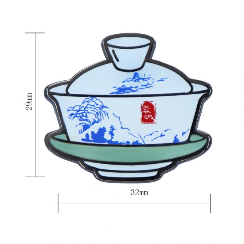 古风茶杯徽章